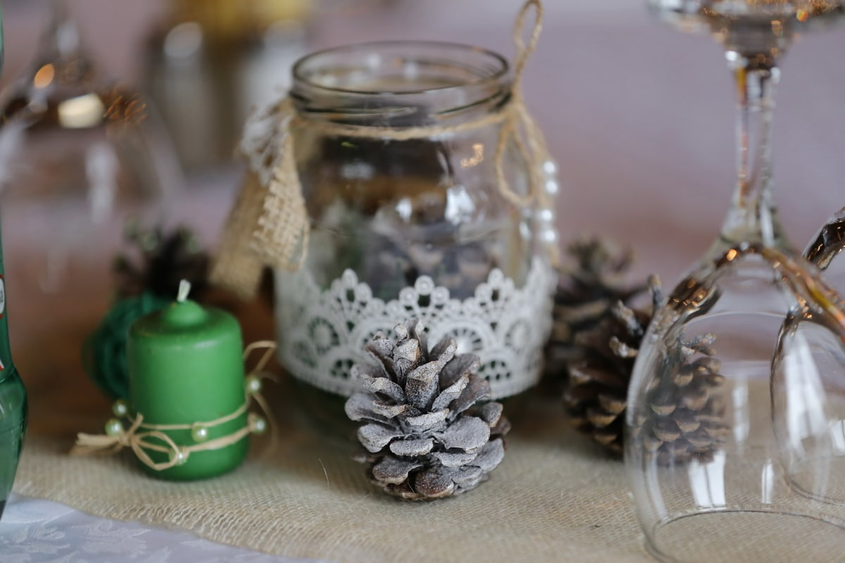 kristalli, lasi, jar, koriste, kynttilä, käsintehty, Sisustussuunnittelu, sisustus, ylellisyys, sisätiloissa