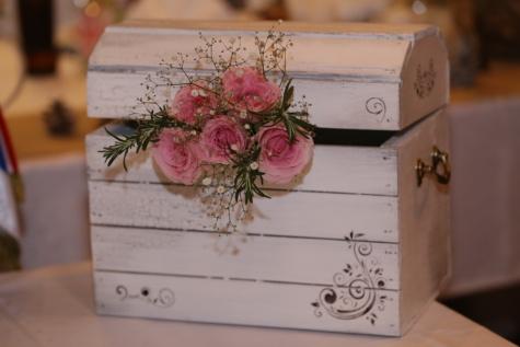 romantique, surprise, boîte de, en bois, conteneur, papier, Vintage, vieux, Grunge, fleur