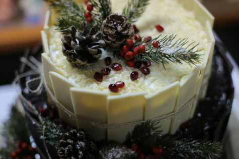 holiday, cake, christmas, food, sweet, fruit, dessert, decoration, celebration, sugar
