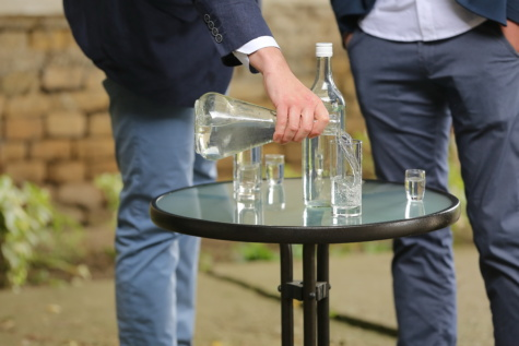 drinking, drink, businessman, businessperson, alcohol, liquid, bottles, glass, man, outdoors