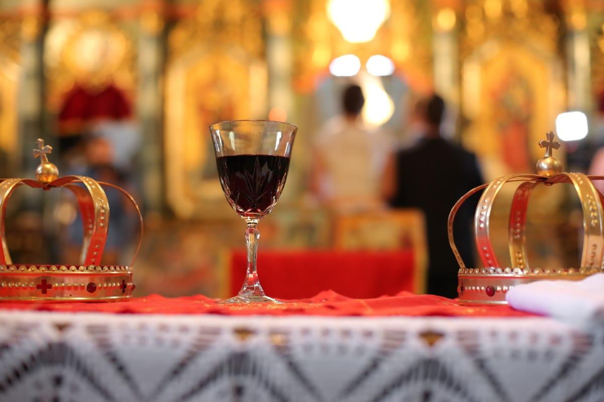 vin rouge, Crystal, couronnement, boisson, Couronne, lunettes, verre, boisson, Noël, célébration