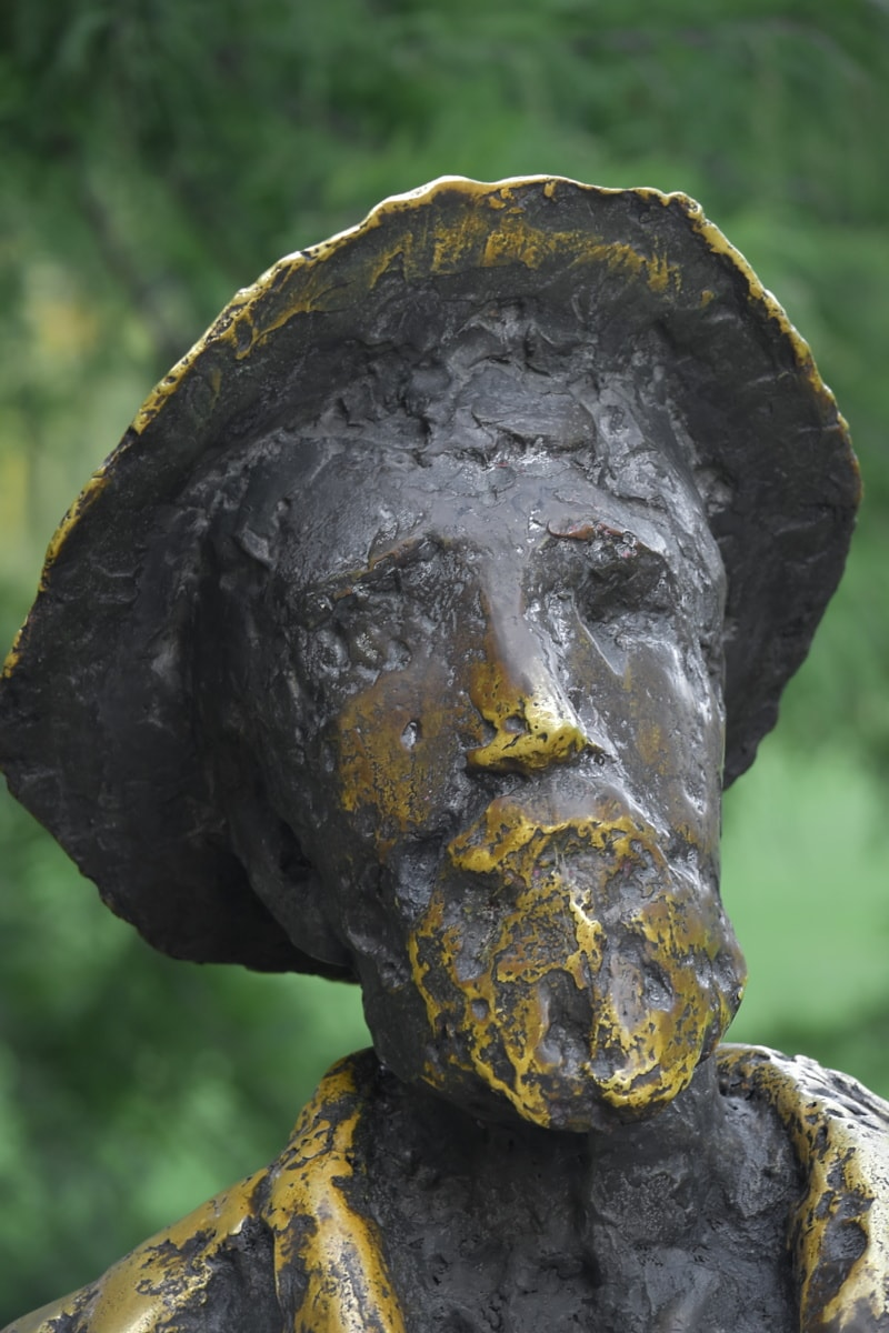 bronze, homme, buste, Barbe, Portrait, en détail, fait main, art, tête, oeuvre