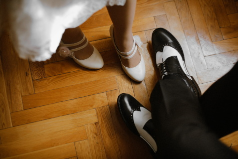 traditional, shoes, black and white, old fashioned, style, casual, pants, parquet, dress, sandal
