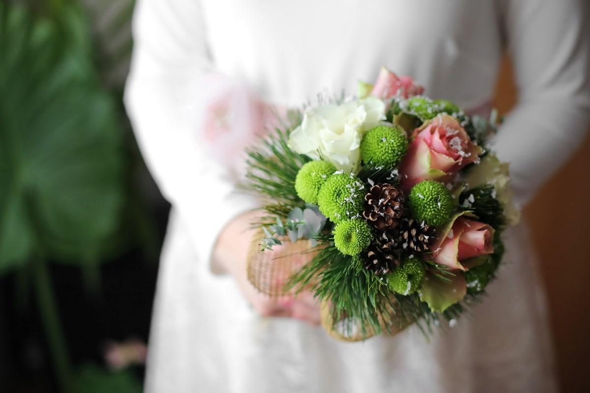 bouquet de mariage, robe de mariée, la mariée, mariage, amour, décoration, bouquet, mariage, arrangement, fleur