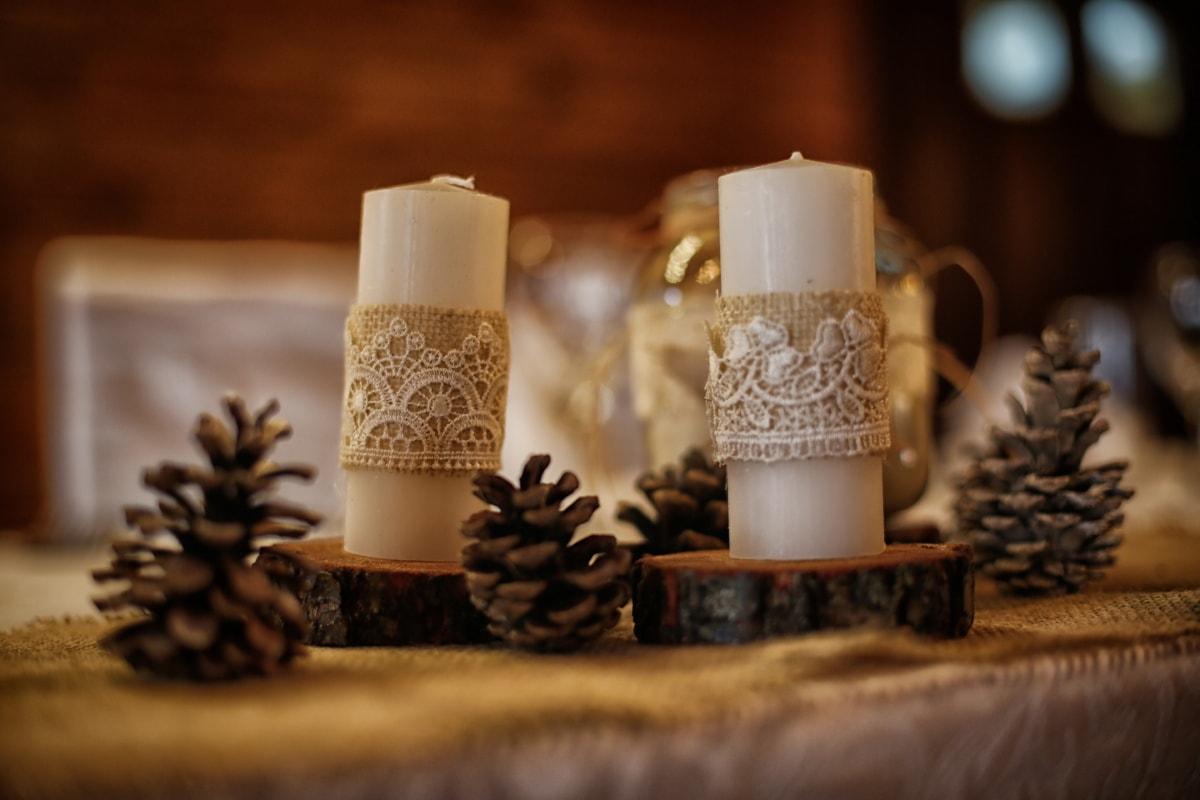 ljus, ljusstake, vit, handgjorda, stilla liv, inredning och design, ljus, trä, levande ljus, traditionella