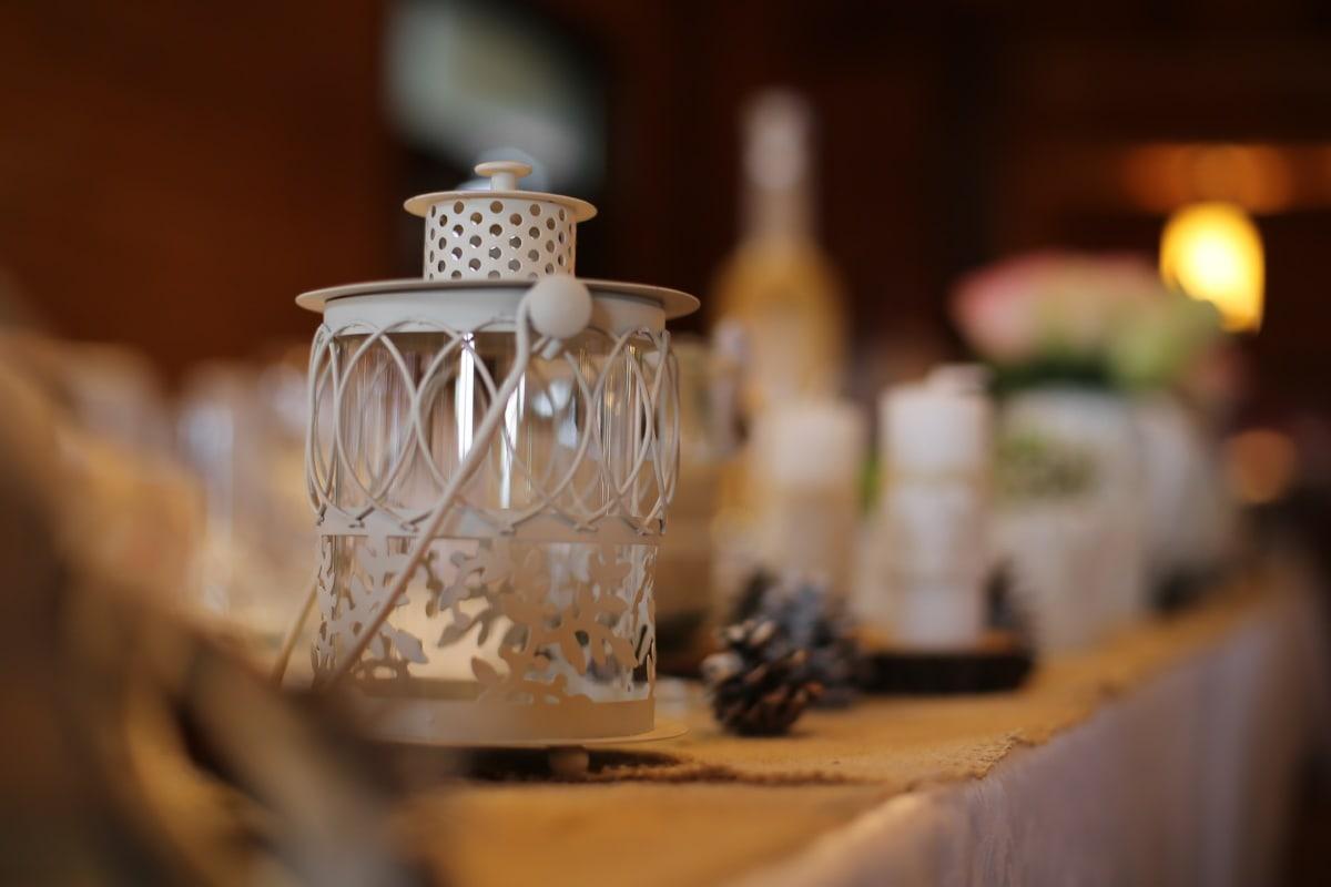Фонарь, в помещении, контейнер, дерево, свеча, дизайн интерьера, вина, стол, При свечах, традиционные