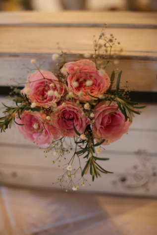 buquê, rosas, rosado, vintage, ainda vida, arranjo, decoração, rosa, flores, flor
