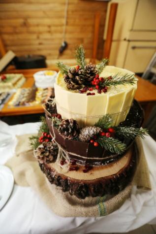 dekorativní, dorty, vánoční, oslava, svátek, bobule, jídlo, čokoláda, vynikající, cukr