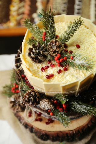 christmas, cake, dessert, food, garnish, delicious, fresh, sweet, diet, strawberry