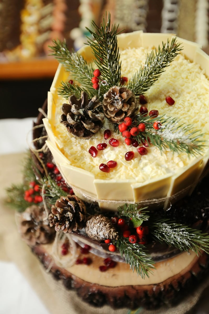 Giáng sinh, bánh, món tráng miệng, thực phẩm, Trang trí, ngon, tươi, ngọt ngào, chế độ ăn uống, dâu tây