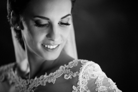 bride, portrait, black and white, monochrome, woman, girl, face, fashion, wedding, saint