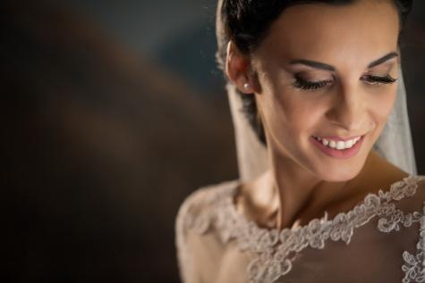 великолепный, невеста, портрет, улыбка, привлекательный, очарование, плечо, кожа, женщина, моды