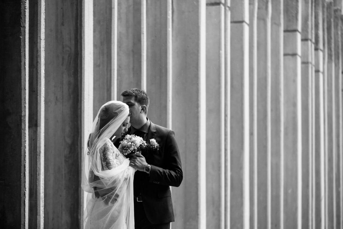 la mariée, gens, jeune marié, homme, femme, mariage, Portrait, administration, amour, robe