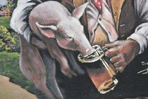 Графити, Прасчо, прасета, пиене, бира, бира стъкло, животните, изкуство, художествени, произведения на изкуството