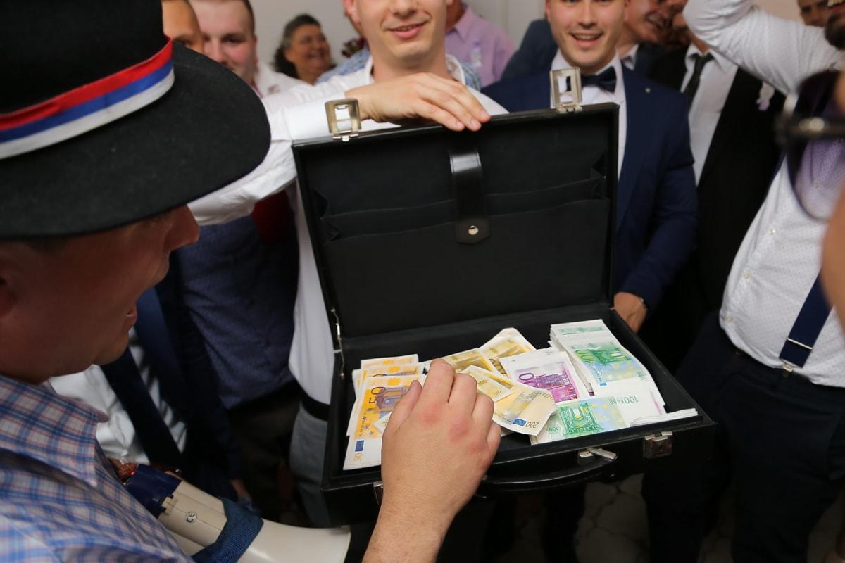 Geld, Bargeld, Arbeiter, Männer, Geschäft, Besprechung, Exekutive, Team, Geschäftsmann, Mann