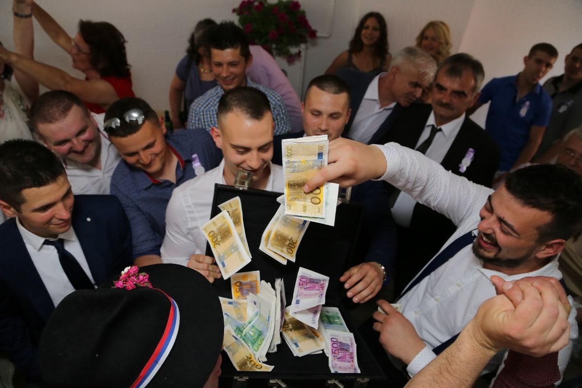 Geld, Männer, Bargeld, Gruppe, Mann, Geschäftsmann, Geschäftsfrau, Team, Besprechung, Geschäft