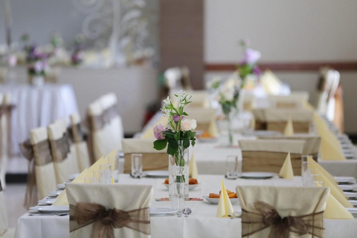 dining area, lunchroom, empty, indoors, tableware, reception, dining, interior design, cutlery, wedding