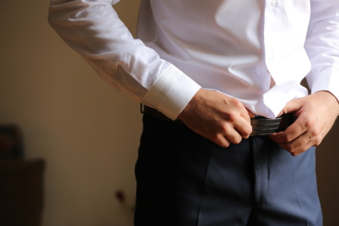 businessman, belt, buckle, pants, man, groom, people, wedding, woman, achievement
