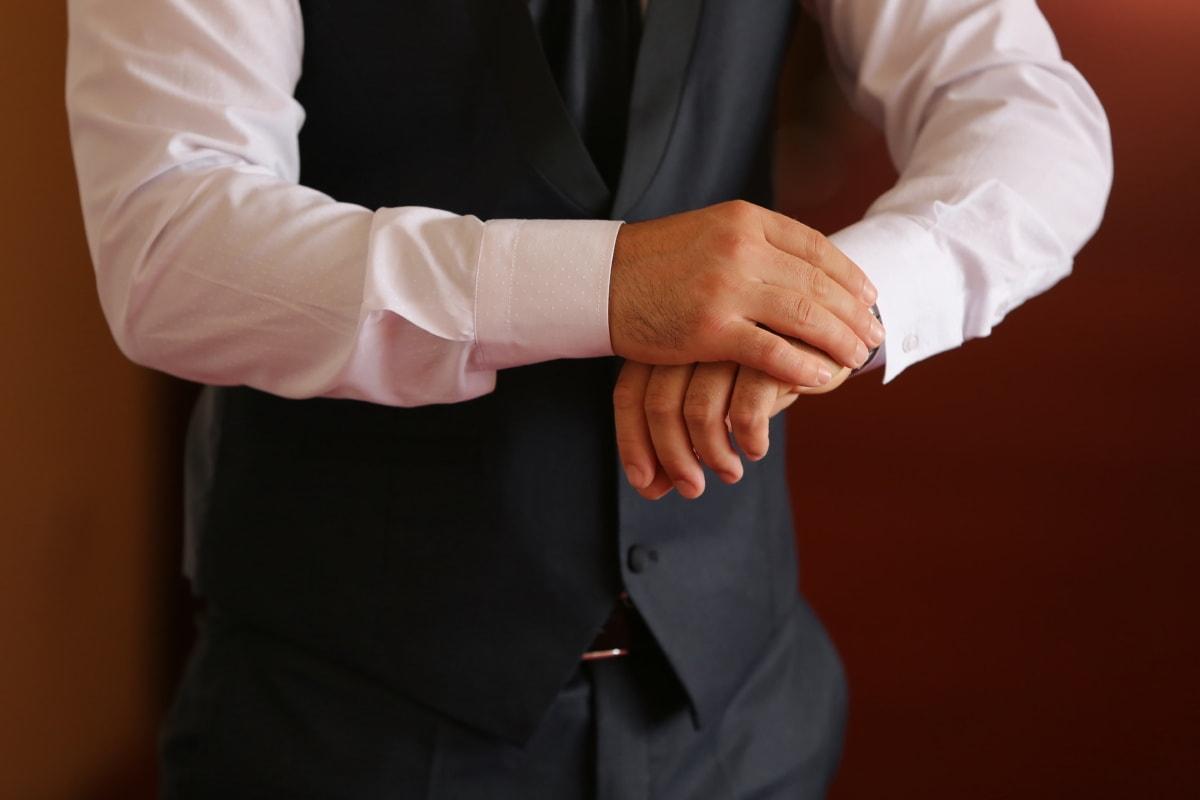 homme d'affaire, costume, Jeans/Pantalons, chemise, blanc, Bureau, mode, main, entreprise, mains