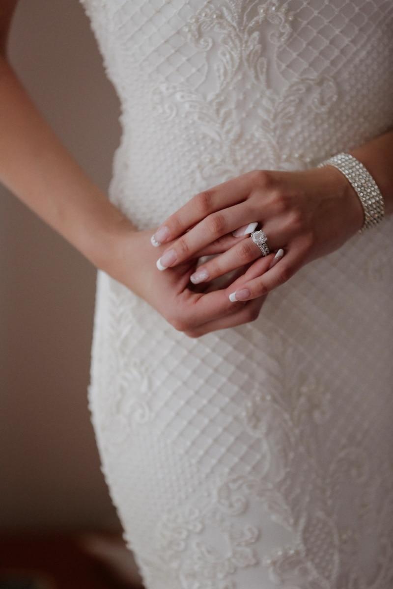 ring, bracelet, diamond, wedding ring, bride, hand, skin, woman, wedding, body