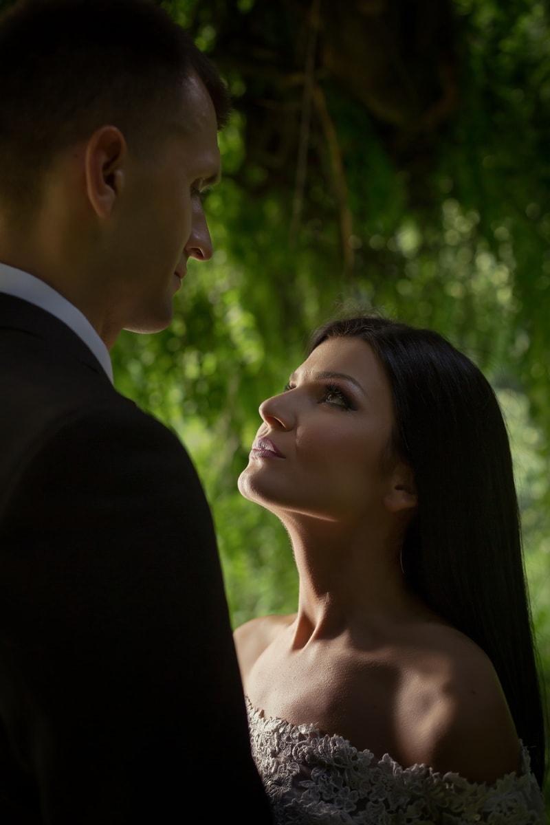 femme, Jolie fille, homme, amour, Portrait, Darling, jeune marié, jeune fille, couple, mariage