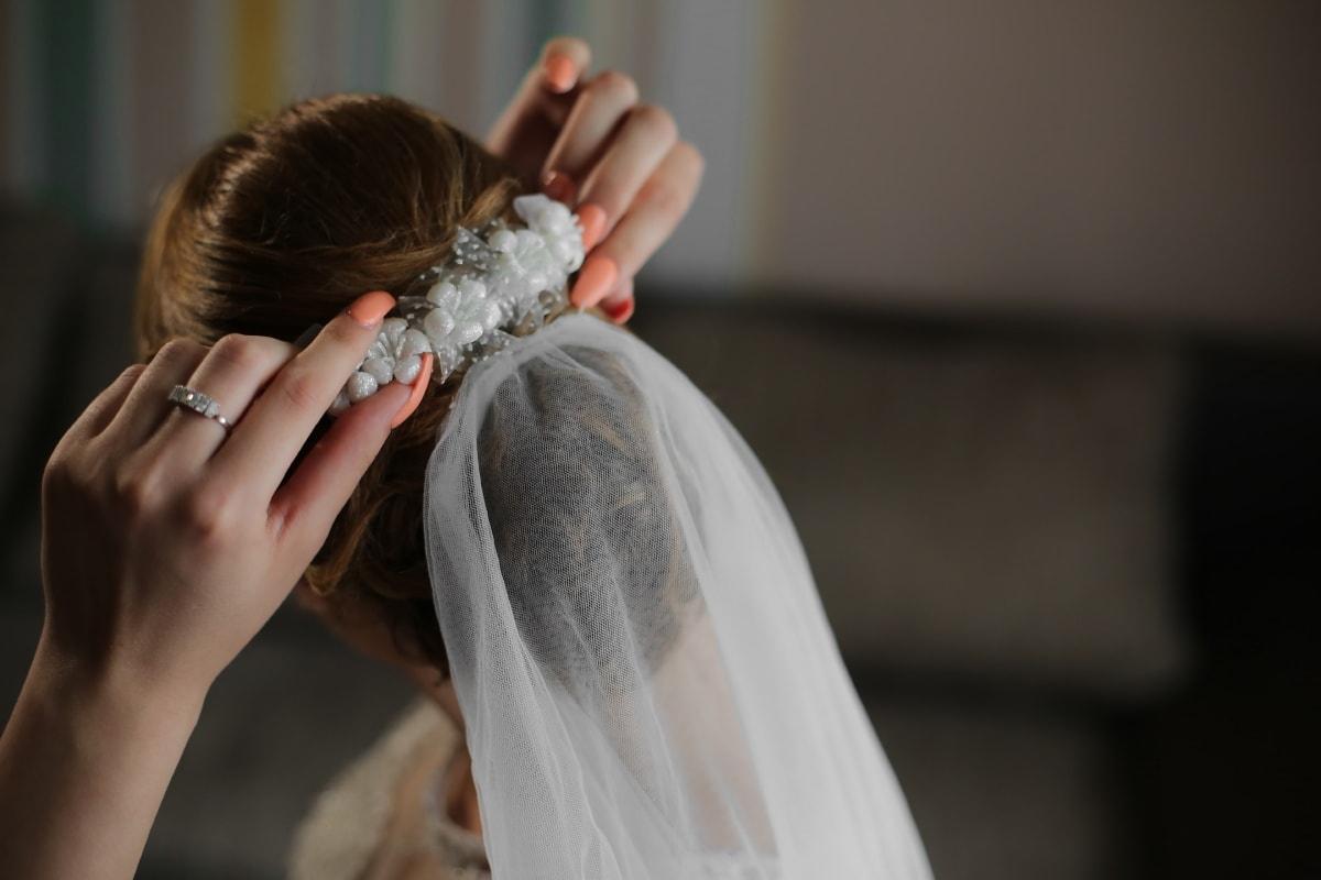 canvas, bride, veil, hair, hairstyle, woman, wedding, groom, love, girl