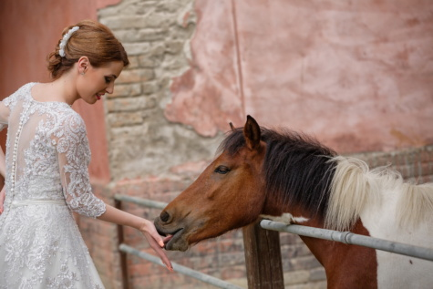 horse, ranch, cowgirl, barn, wedding dress, woman, animal, people, portrait, cute