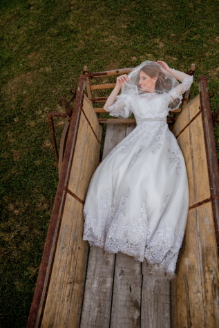 bride, laying, happiness, carriage, woman, love, wedding, dress, marriage, veil