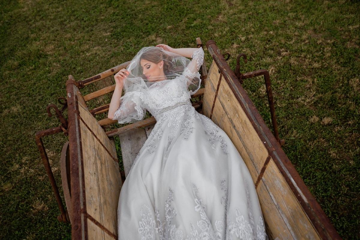 перевозки, Спящая красавица, свадебное платье, вуаль, Свадьба, Спящая, невеста, сельских районах, Прокладка, сельскохозяйственные угодья
