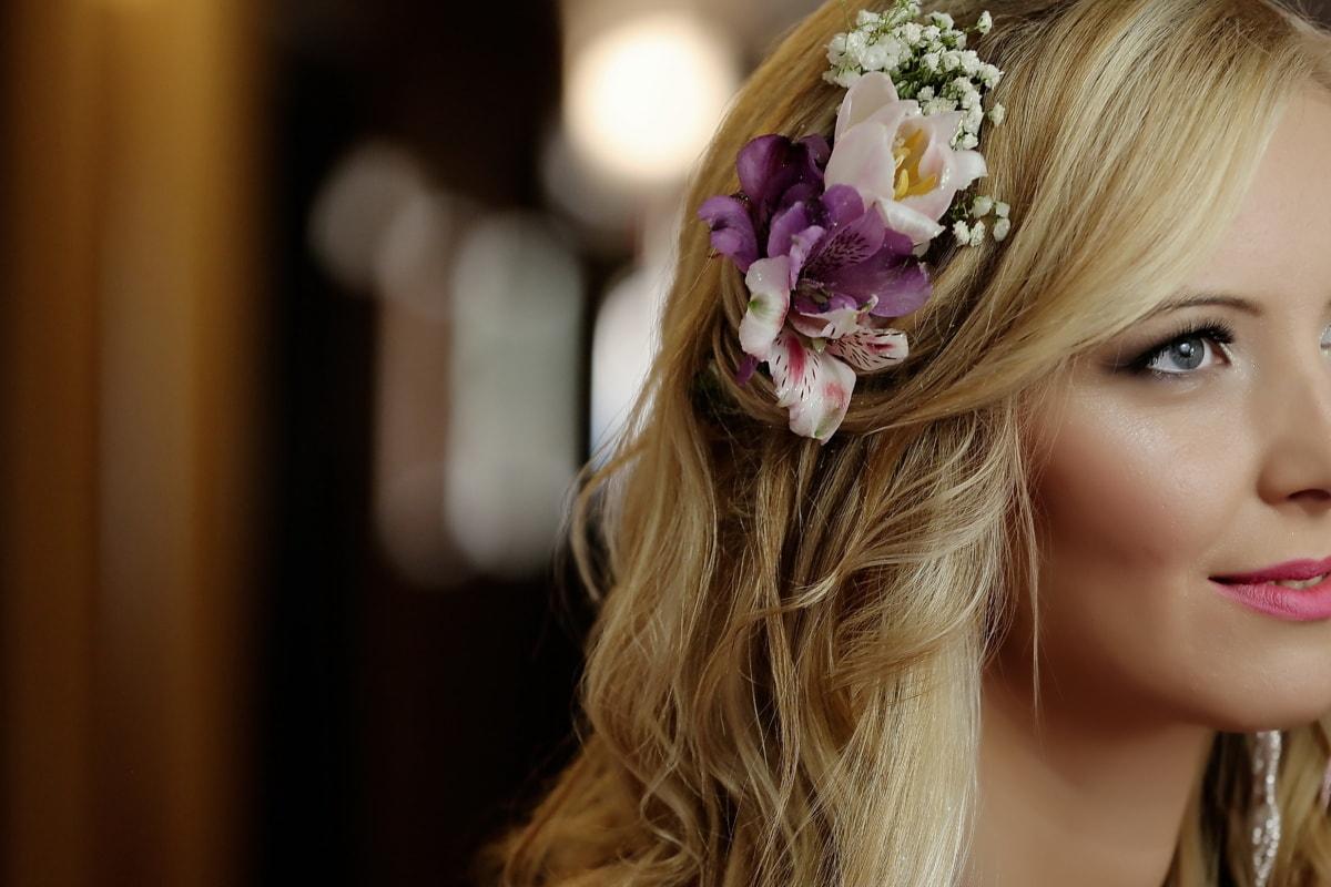 gorgeous, young woman, blonde hair, portrait, eye, hairstyle, glamour, fashion, woman, hair