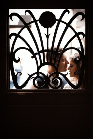 man, kiss, woman, window, silhouette, light, door, art, shadow, gate