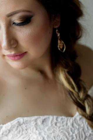 magnifique, jeune femme, Portrait, fermer, visage, nez, charme, œil, peau, bouche