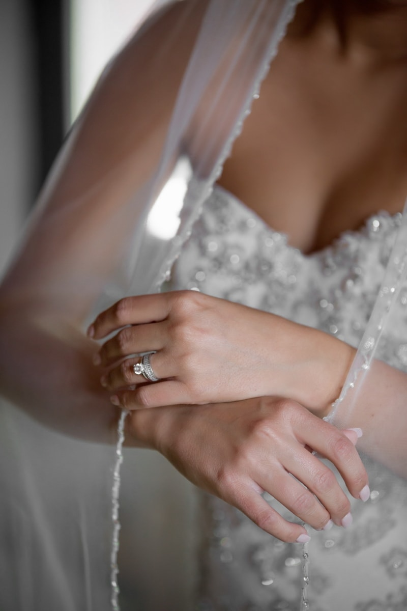 diamond, veil, wedding ring, wedding dress, wedding, bride, woman, body, skin, girl