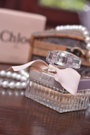 Duft, Parfüm, Luxus, Flasche, Kulturbeutel, Mode, elegant, drinnen, glänzend, zeitgenössisch