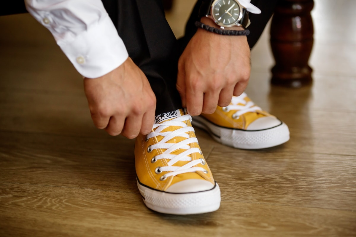 sneakers, businessman, footwear, clothing, foot, pair, wood, fashion, man, leisure
