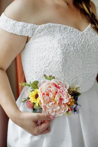 esküvői ruha, esküvői csokor, menyasszony, Szalon, selyem, pamut, ruha, nő, csokor, felső