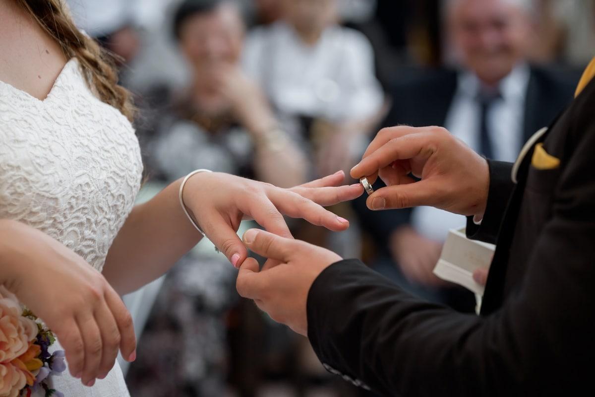 hands, wedding, ceremony, wedding ring, groom, woman, man, people, bride, fashion