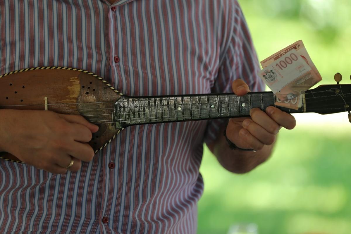 money, guitarist, guitar, music, hands, musician, man, instrument, performance, leisure