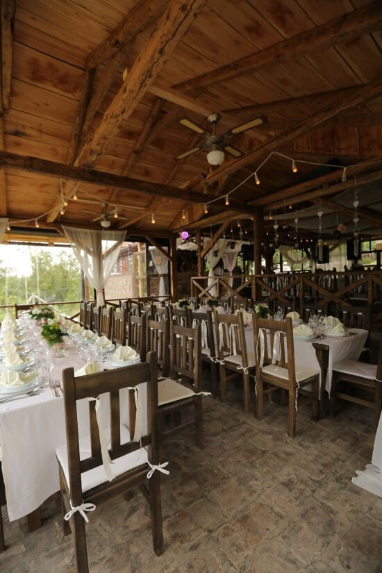 chairs, tables, cafeteria, interior, furniture, table, restaurant, structure, indoors, building