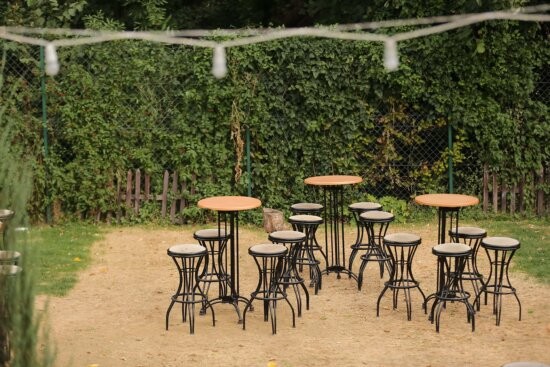 cast iron, chairs, tables, garden, outdoor, cafeteria, resort area, structure, area, seat