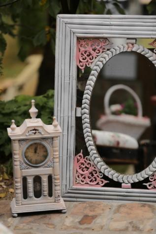 analog clock, old style, frame, mirror, nostalgia, vintage, old, clock, antique, retro