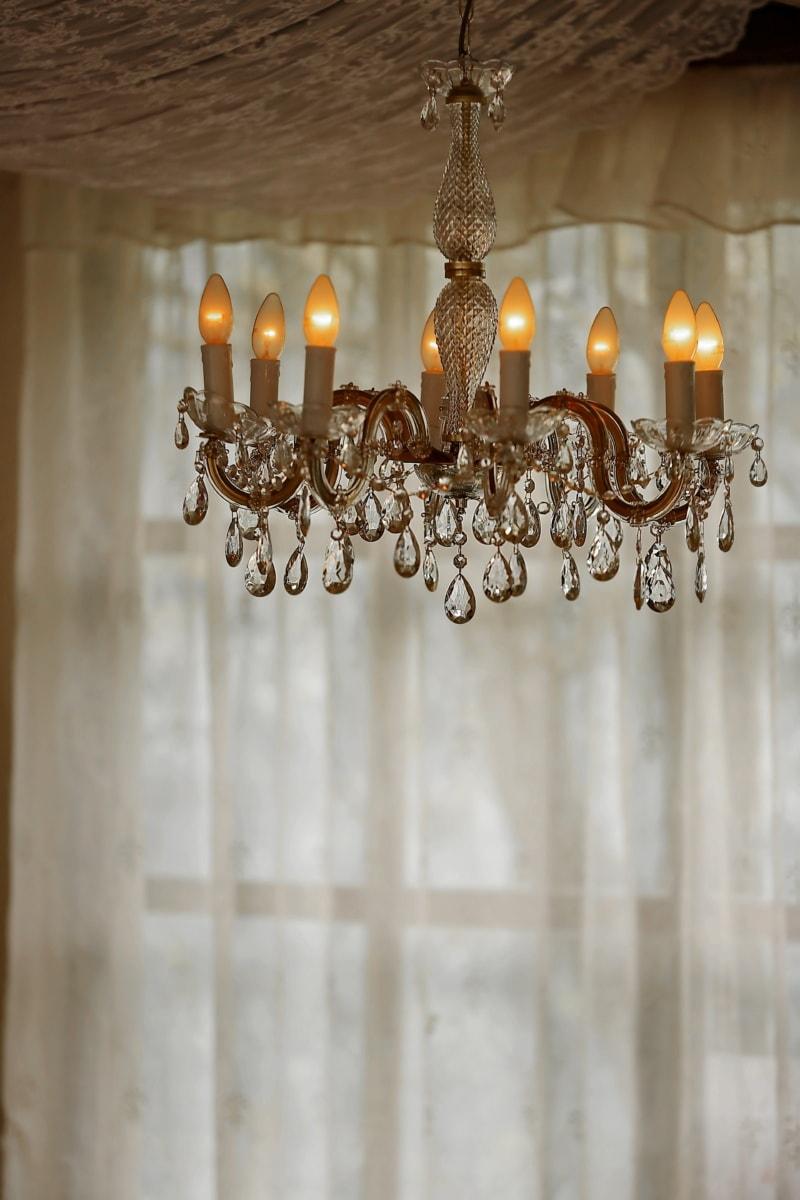 chandelier, baroque, crystal, handmade, old, interior design, retro, antique, traditional, architecture