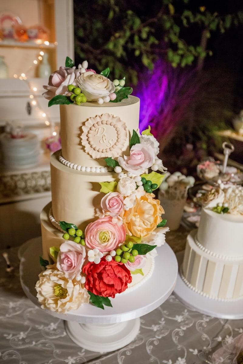gâteau de mariage, décoration, des roses, fleurs, cuisine, vintage, cuisson au four, Design d'intérieur, bouquet, mariage