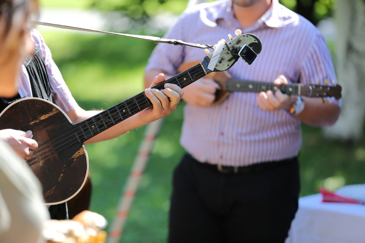 guitar, guitarist, orchestra, street, festival, entertainer, entertainment, music, musical, performer