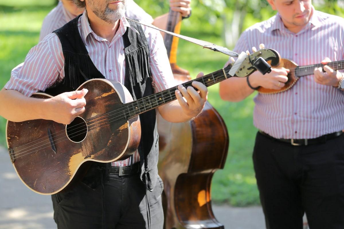 Gitarre, Unterhaltung, Gitarrist, Orchester, Musiker, Musik, musikalischen, Performer, spielen, Instrument