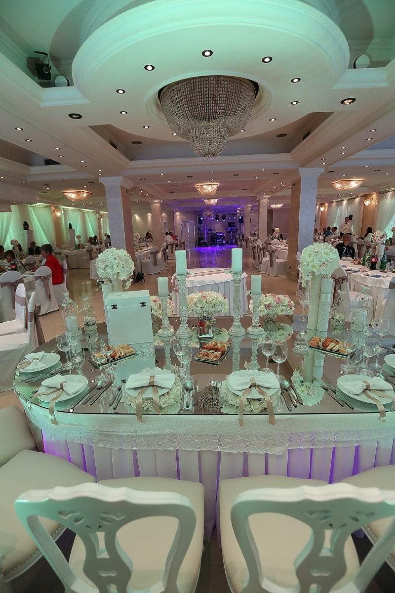 salle de mariage, mariage, fantaisie, hôtel, luxe, chaise, table, chambre, meubles, à l'intérieur
