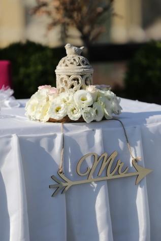 Keramik, Blumenstrauß, weiße Blume, Dekoration, Anordnung, Hochzeit, Blumen, Feier, im freien, Romantik