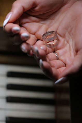 woman, finger, holding, wedding ring, hands, musician, piano, hand, device, indoors