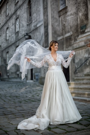 ม่าน, ลม, ชุดแต่งงาน, สาวสวย, งดงาม, การแต่งงาน, งานแต่งงาน, เจ้าสาว, การแต่งกาย, ความรัก