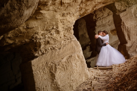 underground, cave, hugging, bride, groom, love, canyon, rock, people, woman